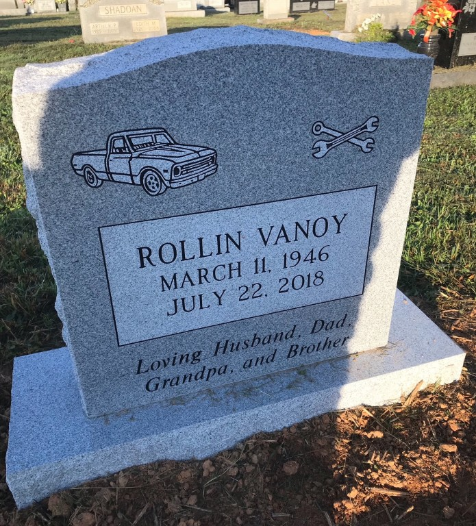 Headstone for Rollin Vanoy