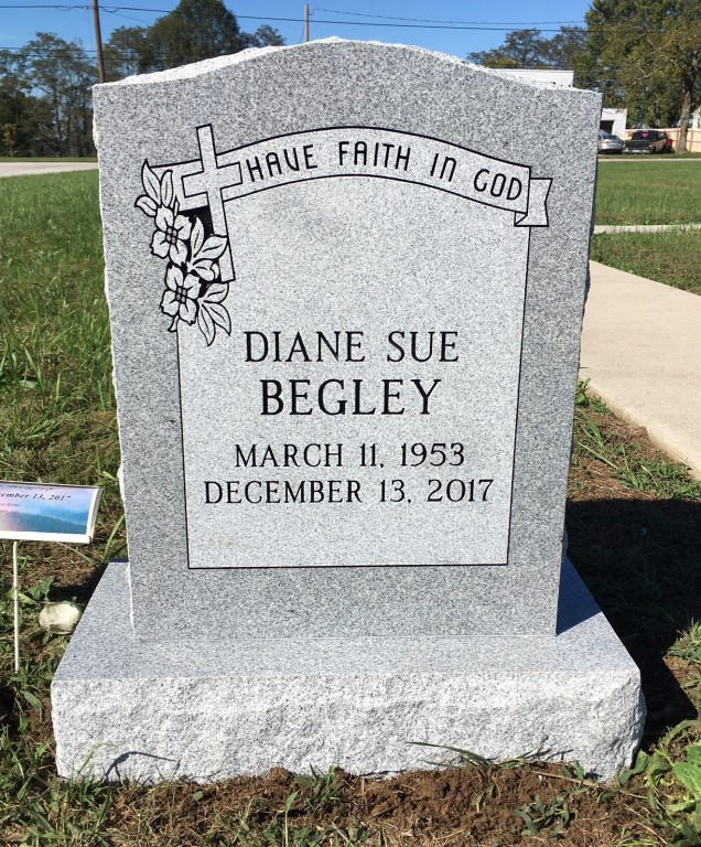 Headstone for Diane Begley