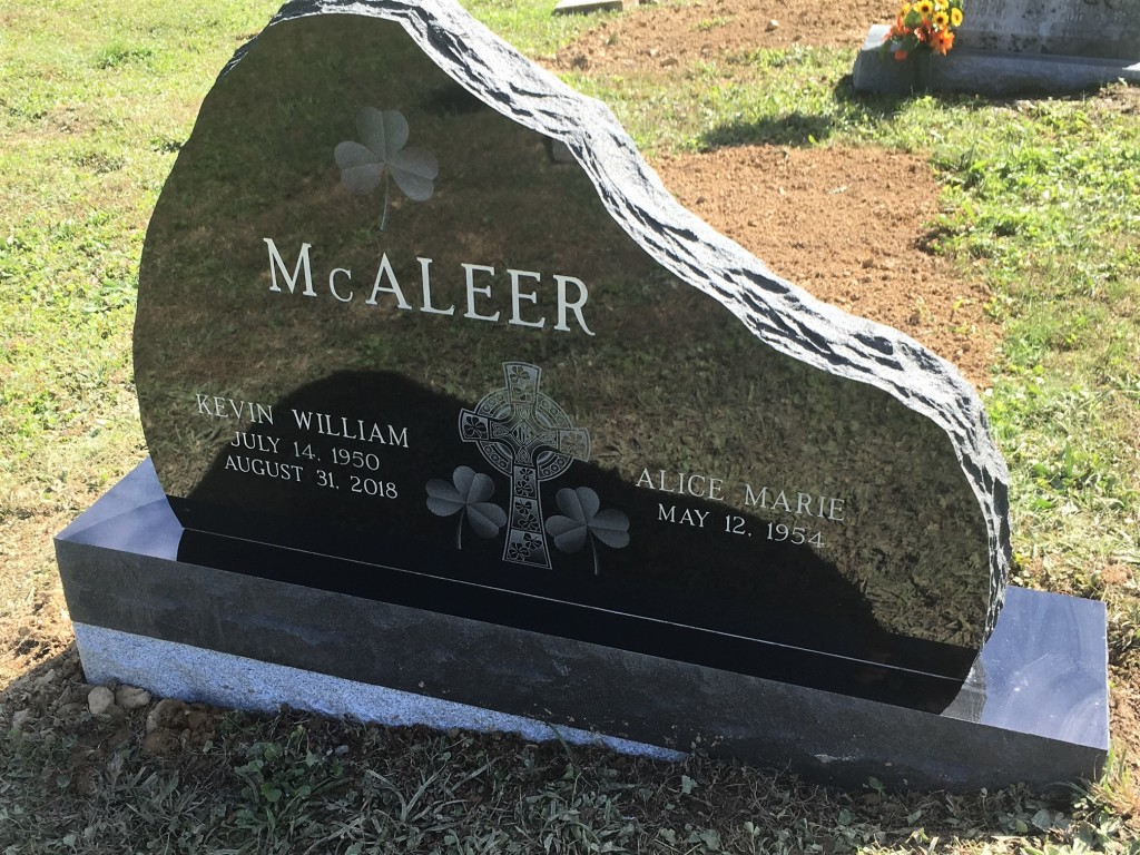 Headstone for Kevin and Alice McAleer