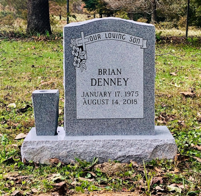 Headstone for Brian Denney