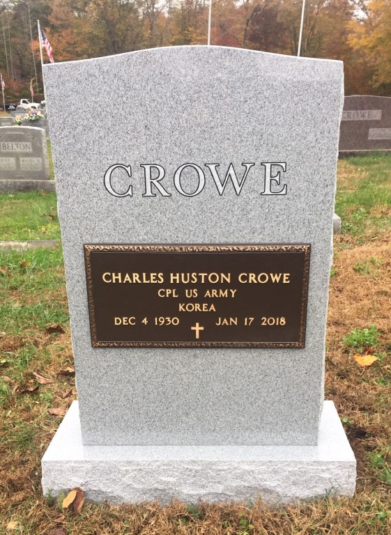 Headstone for Charles Crowe