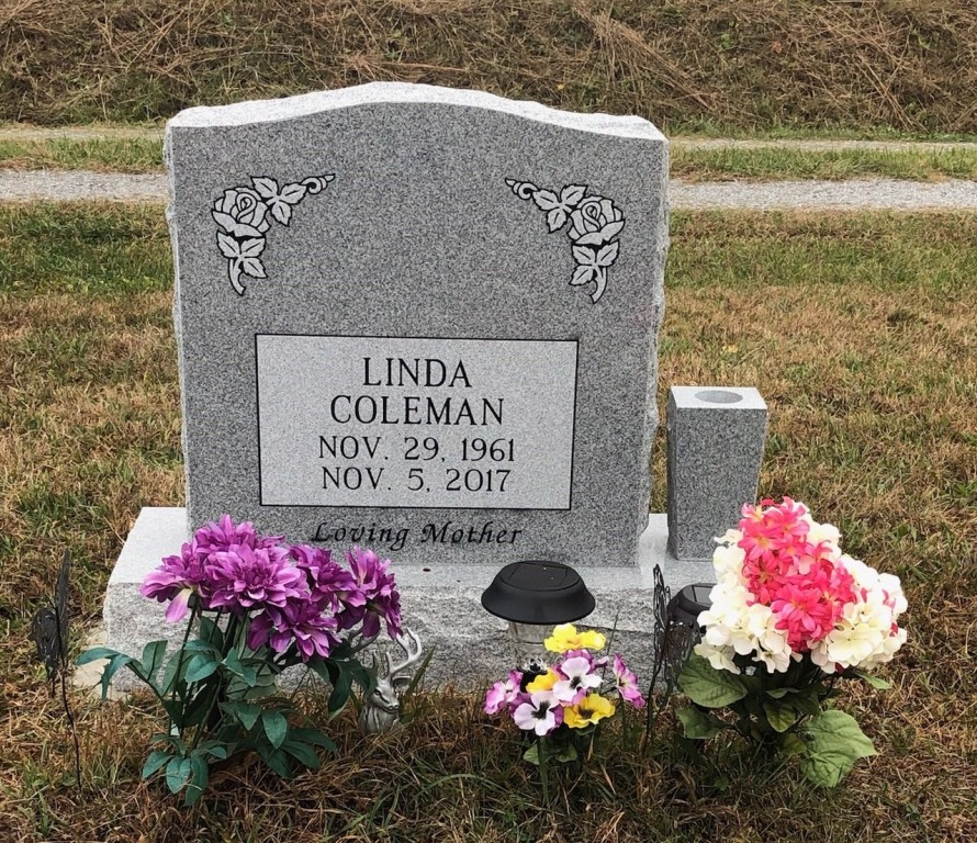 Headstone for Linda Coleman