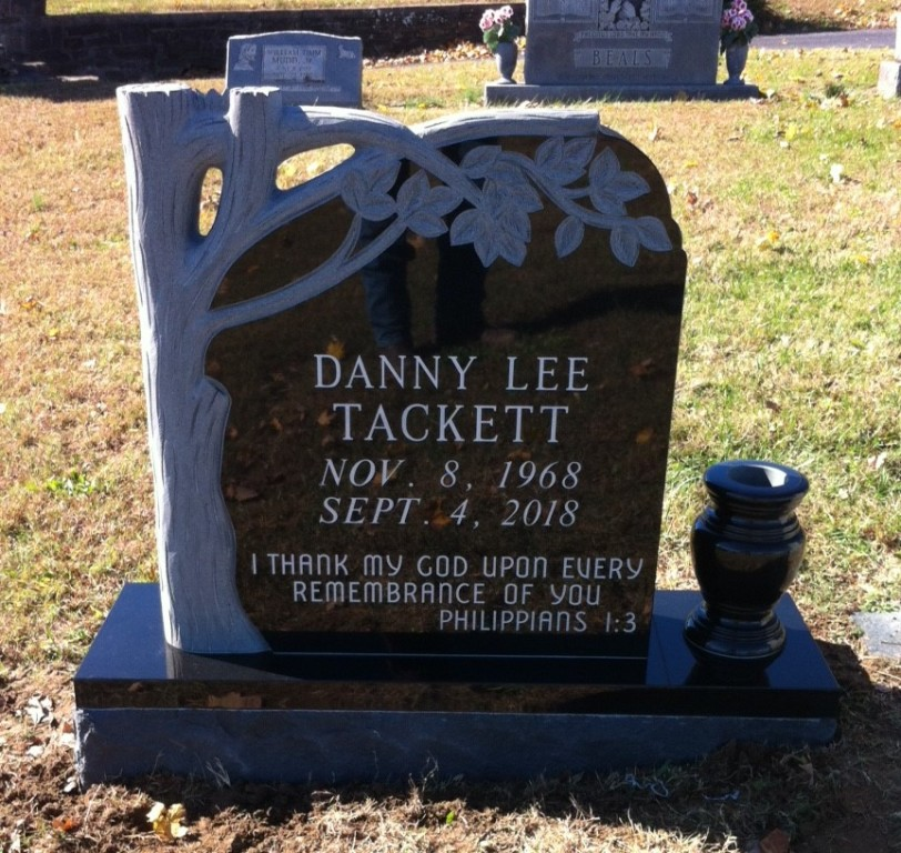 Headstone for Danny Tackett