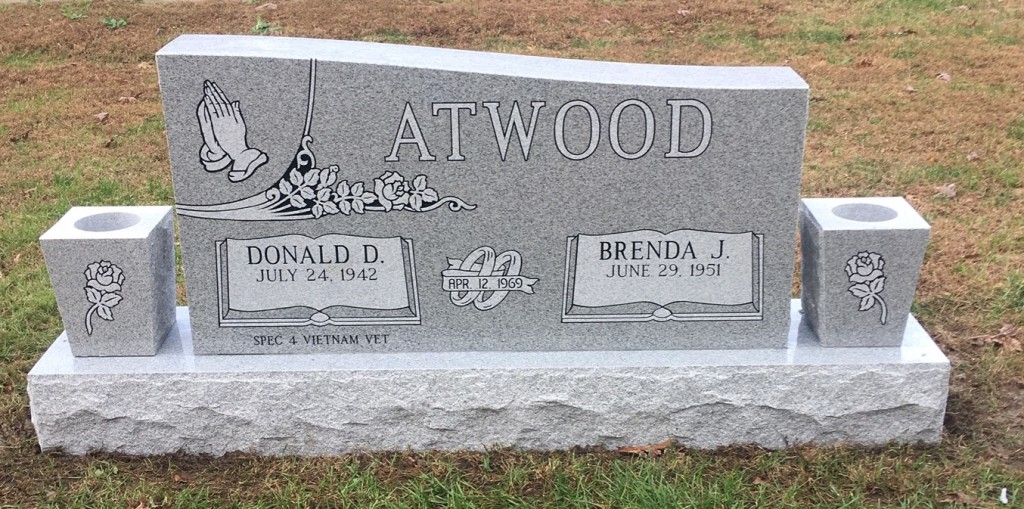 Headstone for Donald and Brenda Atwood