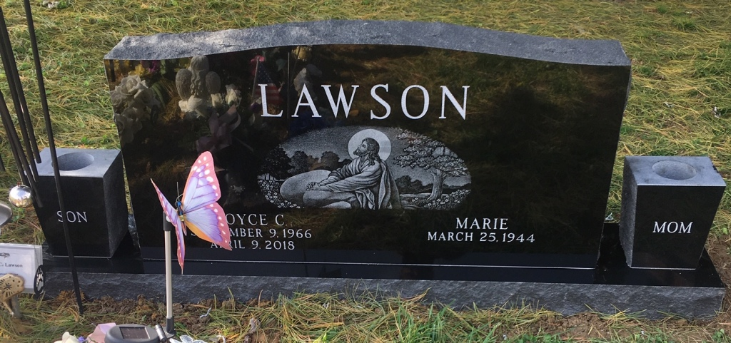 Headstone for Royce and Marie Lawson