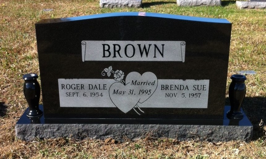 Headstone for Roger and Brenda Brown