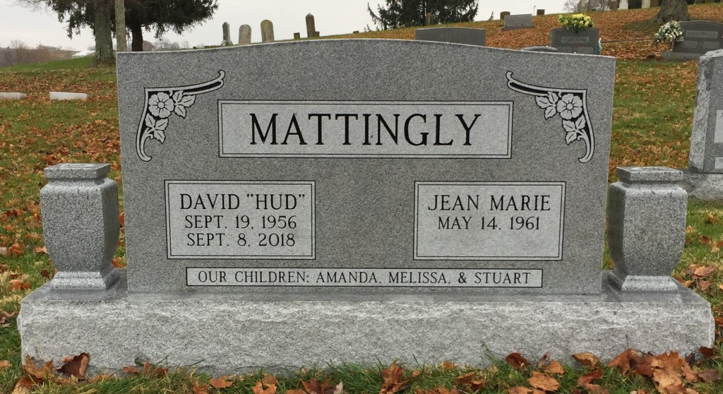 Headstone for David and Jean Marie Mattingly