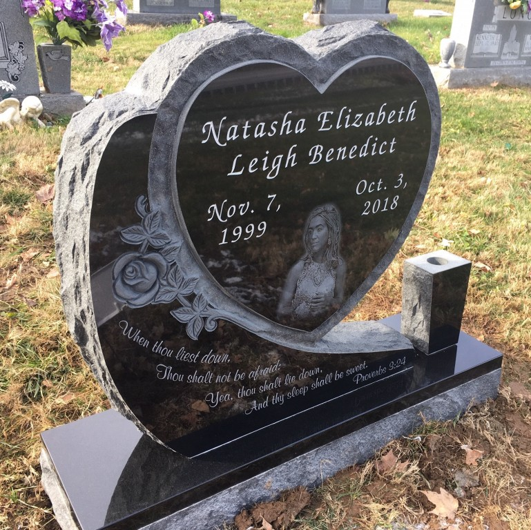 Headstone for Natasha Elizabeth Leigh Benedict