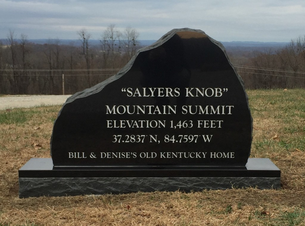 Sign for Salyers property