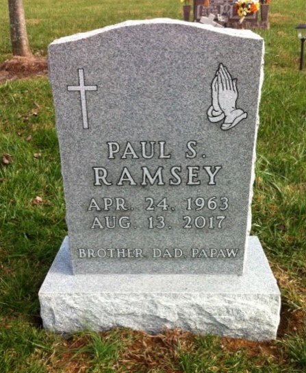 Headstone for Paul Ramsey