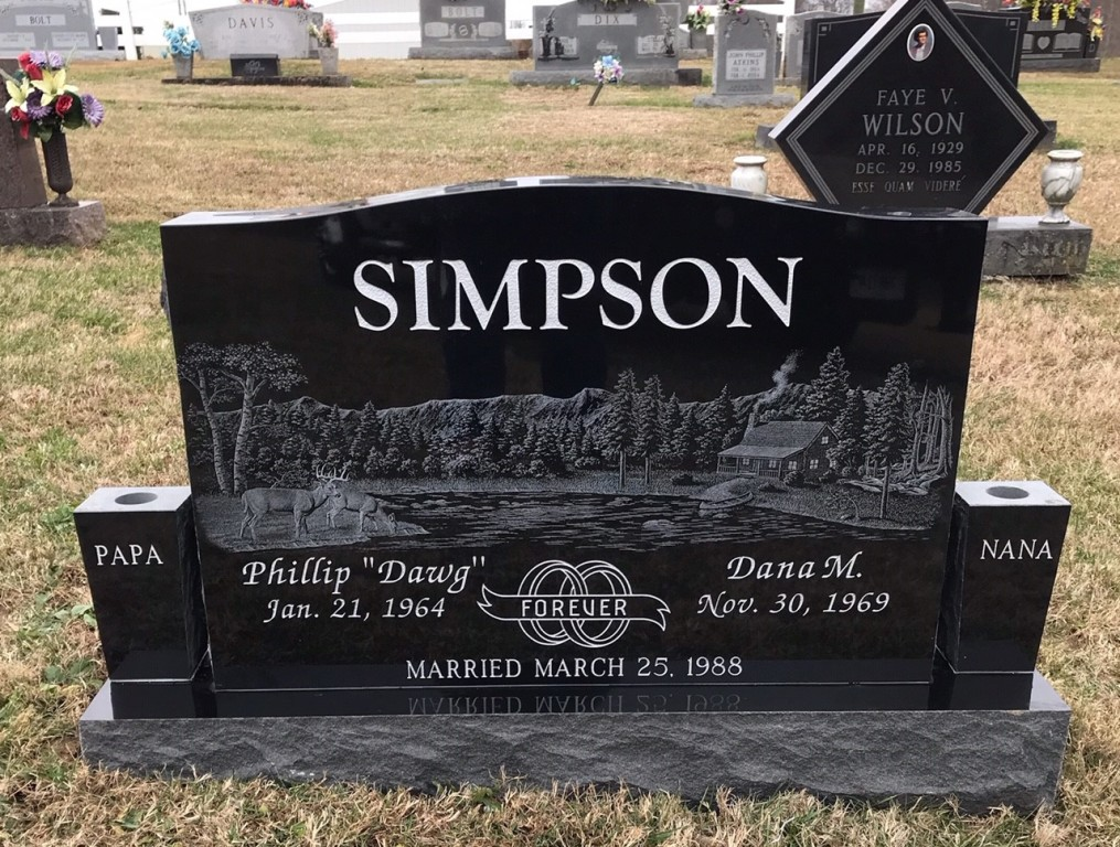 Headstone for Phillip and Dana Simpson