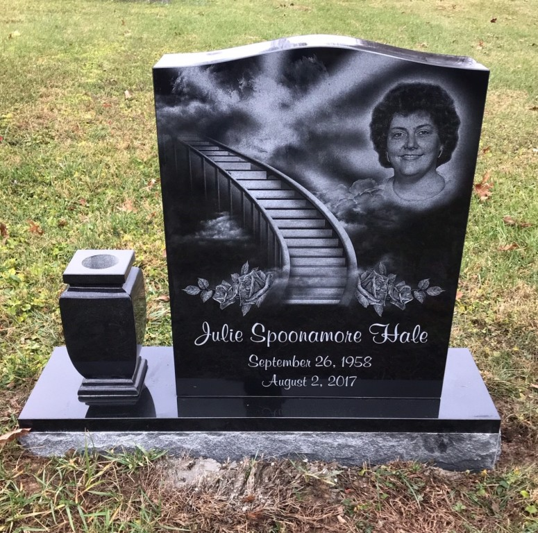 Headstone for Julie Hale