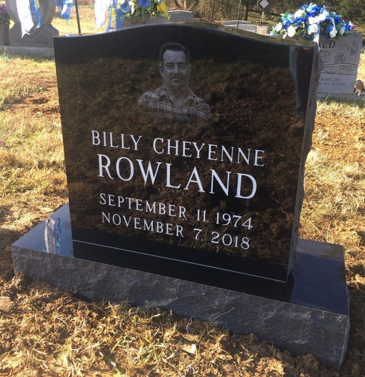 Headstone for Billy Rowland
