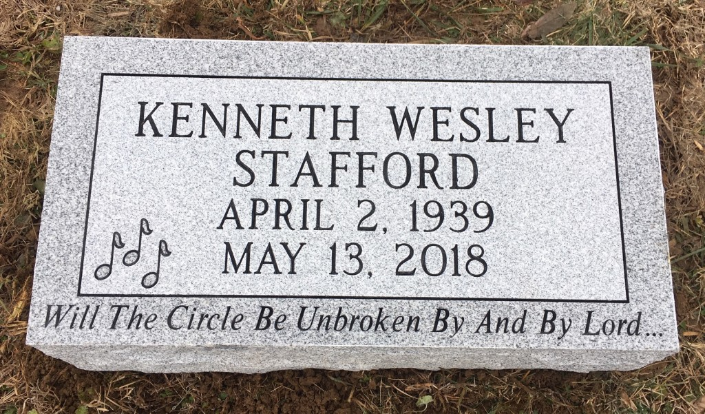 Bevel marker for Kenneth Stafford