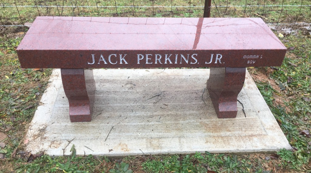 Bench for Jack Perkins