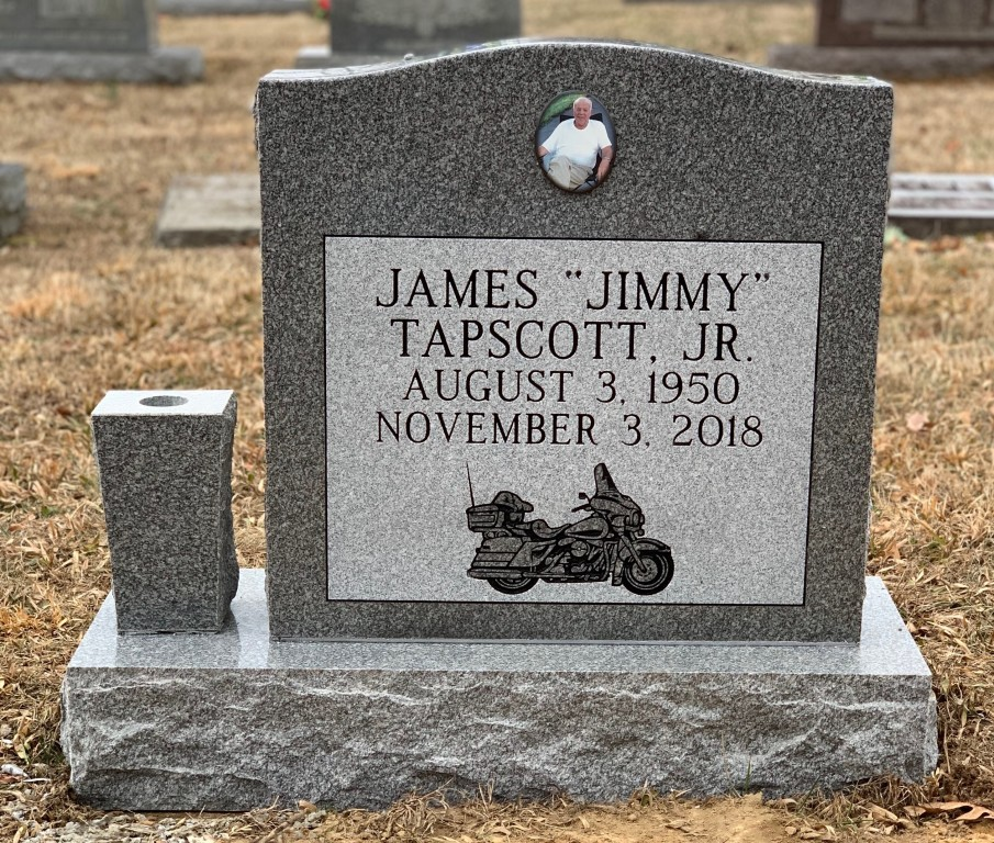 Headstone for Jimmy Tapscott