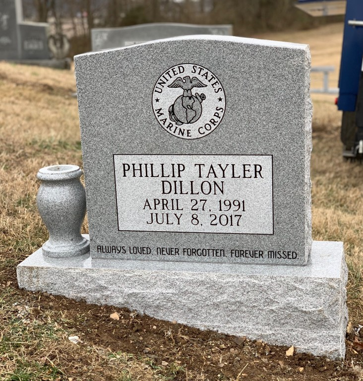 Headstone for Tayler Dillon
