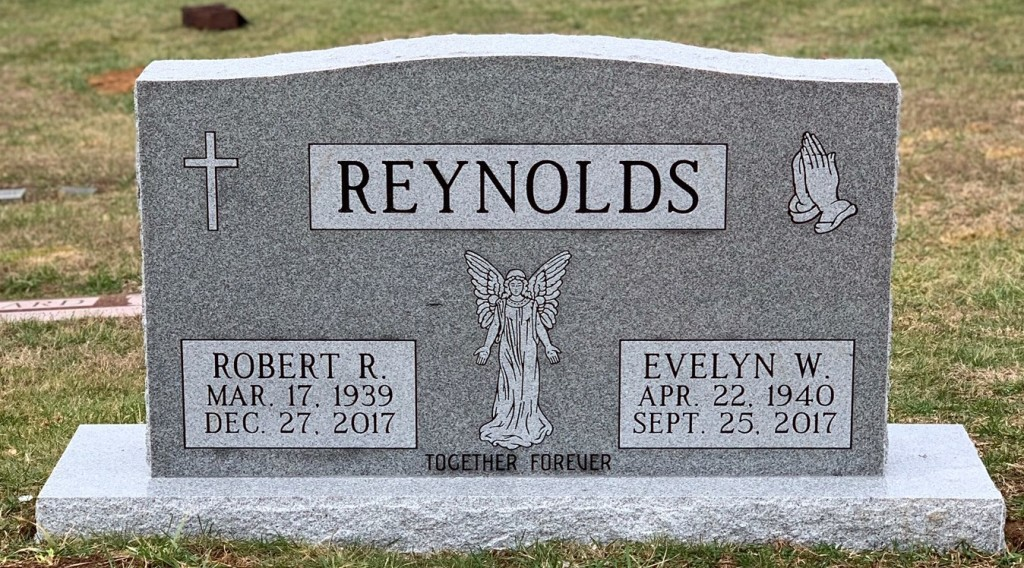 Headstone for Robert and Evelyn Reynolds