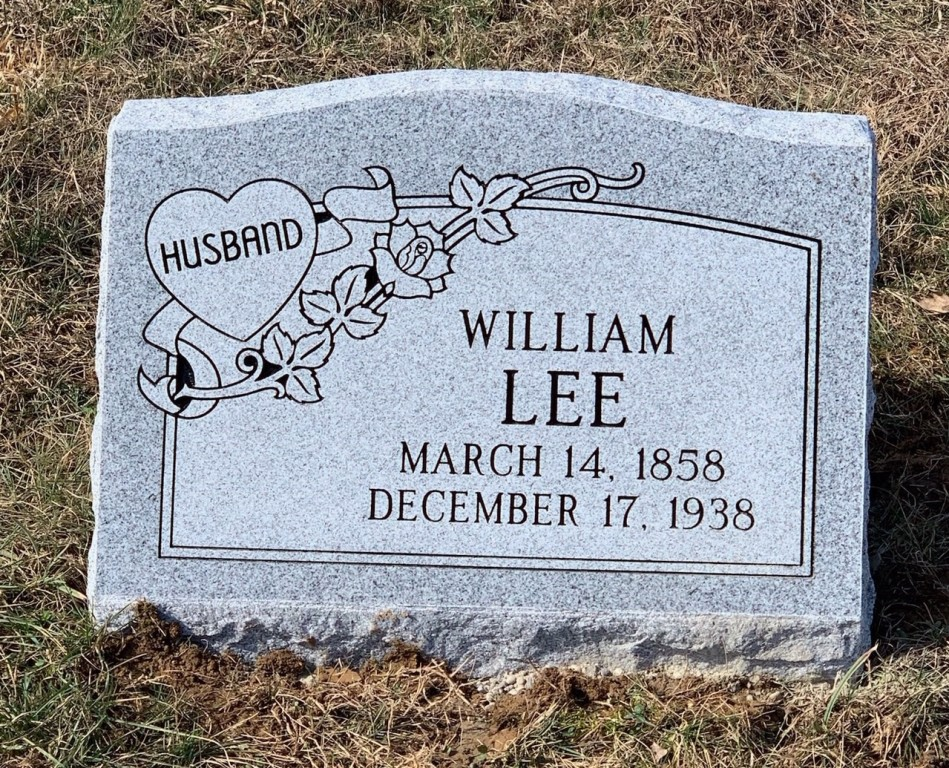 Slant marker for William Lee