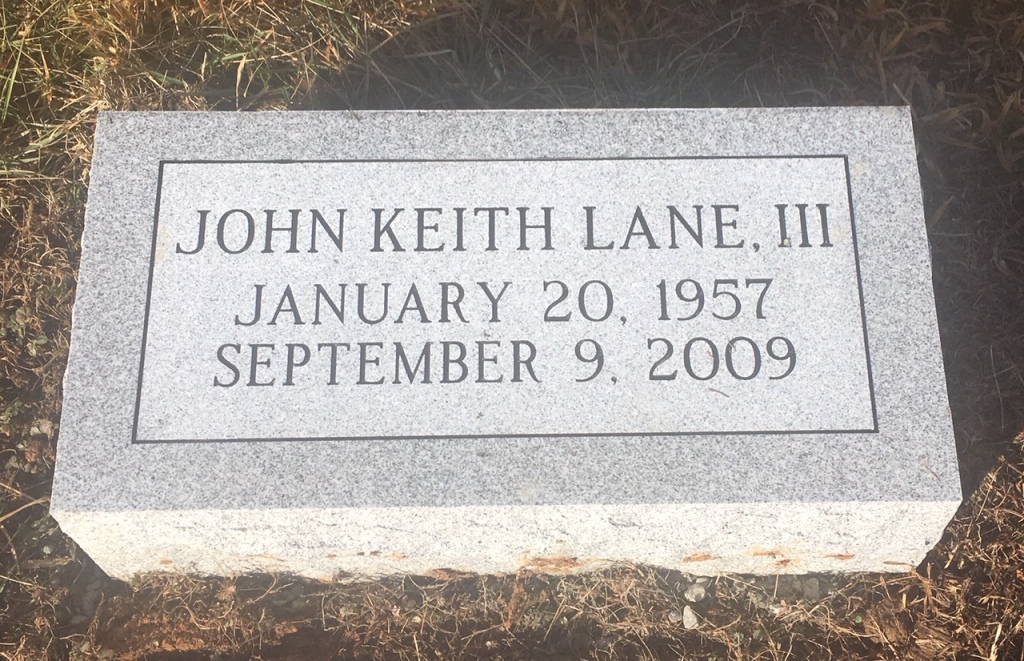 Bevel marker for John Keith Lane