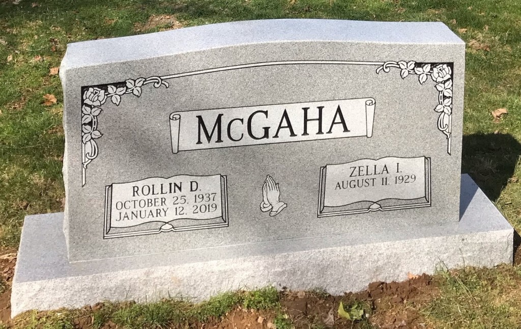 Headstone for Rollin and Zella McGaha