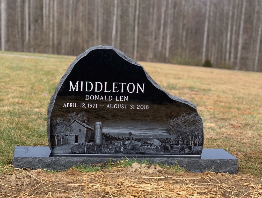 Headstone for Donald Len Middleton