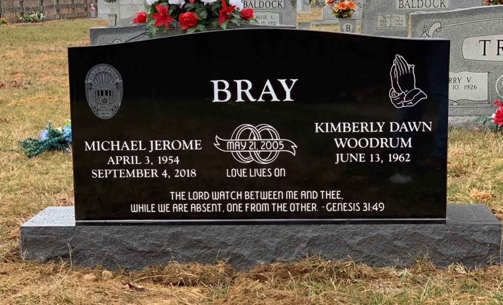 Headstone for Michael and Kim Bray