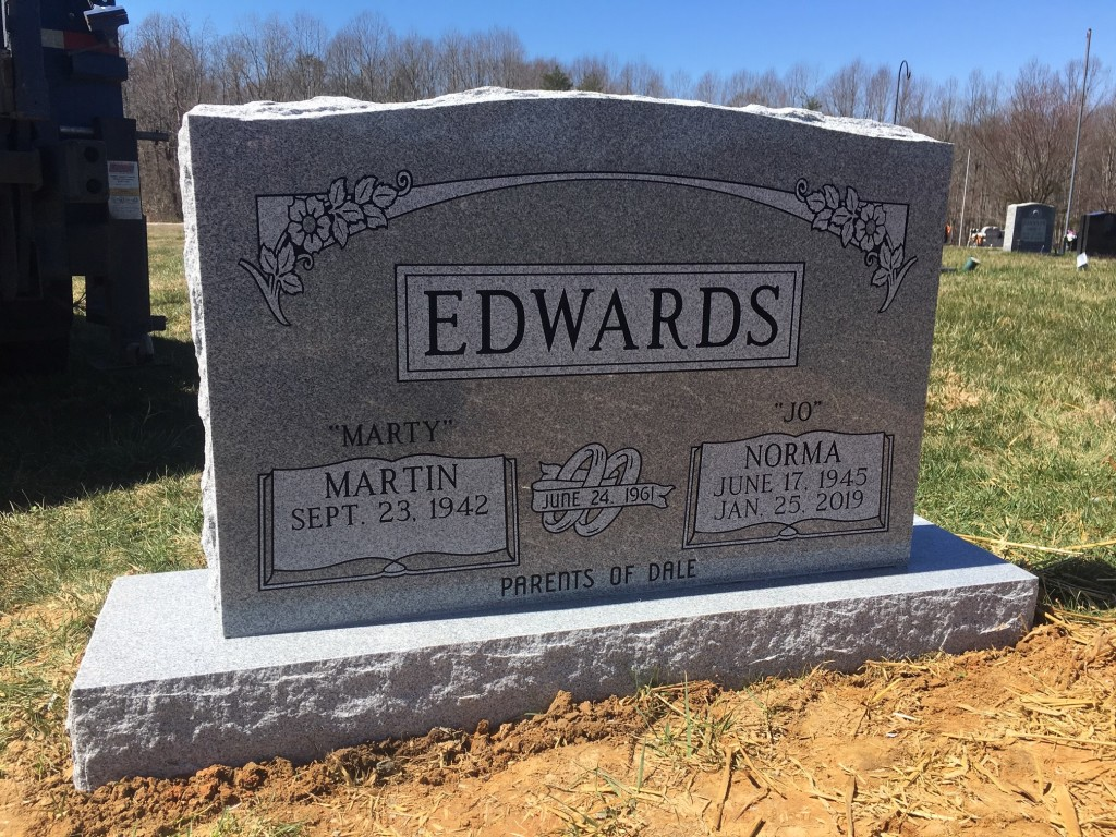 Headstone for Marty and Jo Edwards