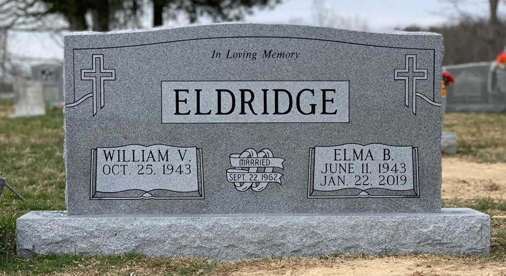 Headstone for William and Elma Eldridge