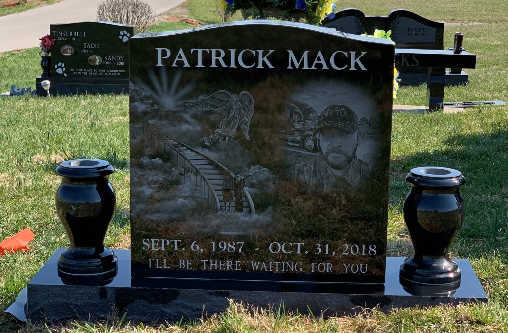 Headstone for Patrick Mack