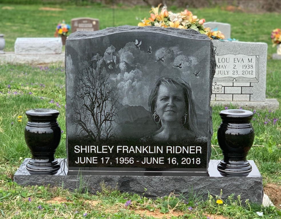 Headstone for Shirley Franklin Ridner