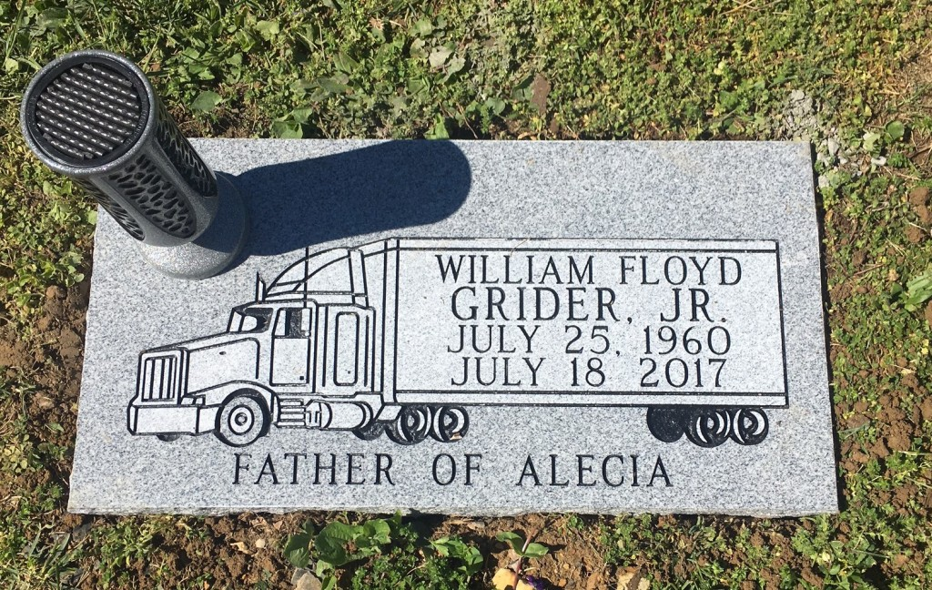 Flat marker for Willliam Floyd Grider, Jr.