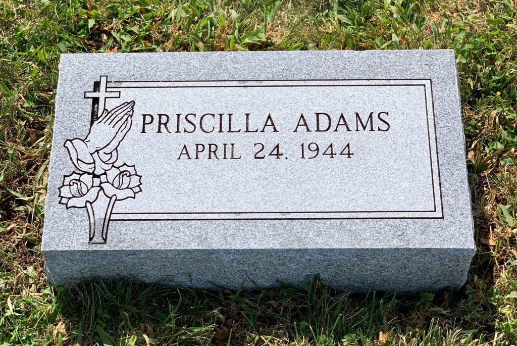 Bevel marker for Priscilla Adams