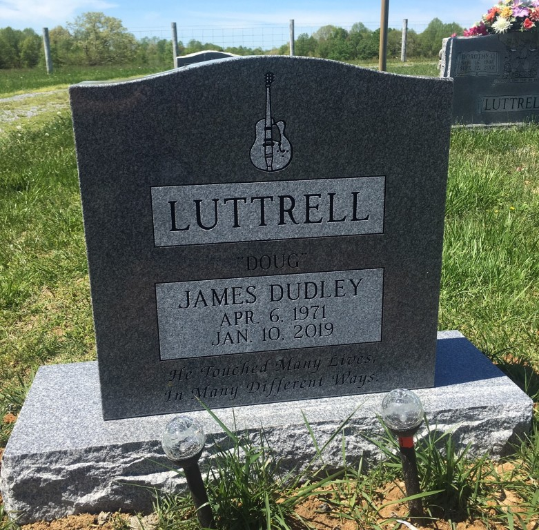 Headstone for James Dudley Luttrell