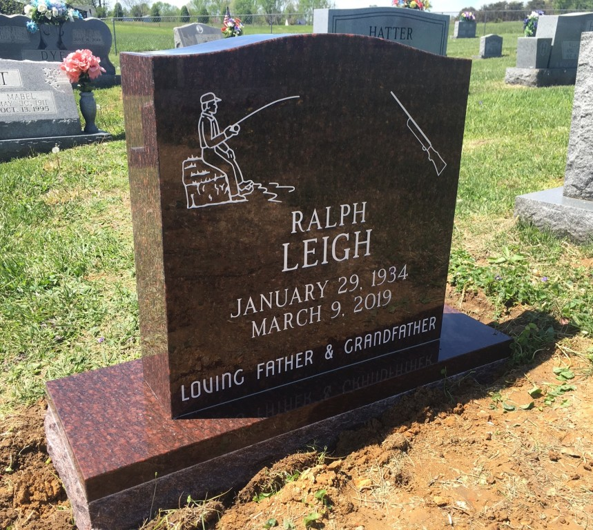 Headstone for Ralph Leigh