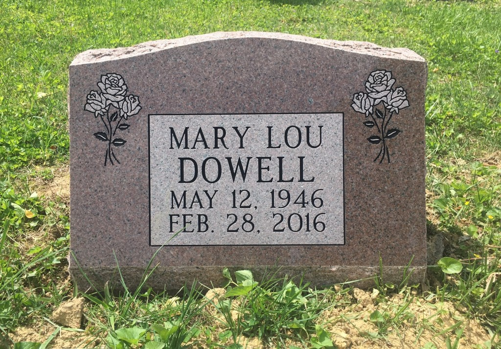 Slant marker for Mary Lou Dowell