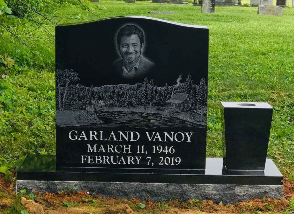 Headstone for Garland Vanoy