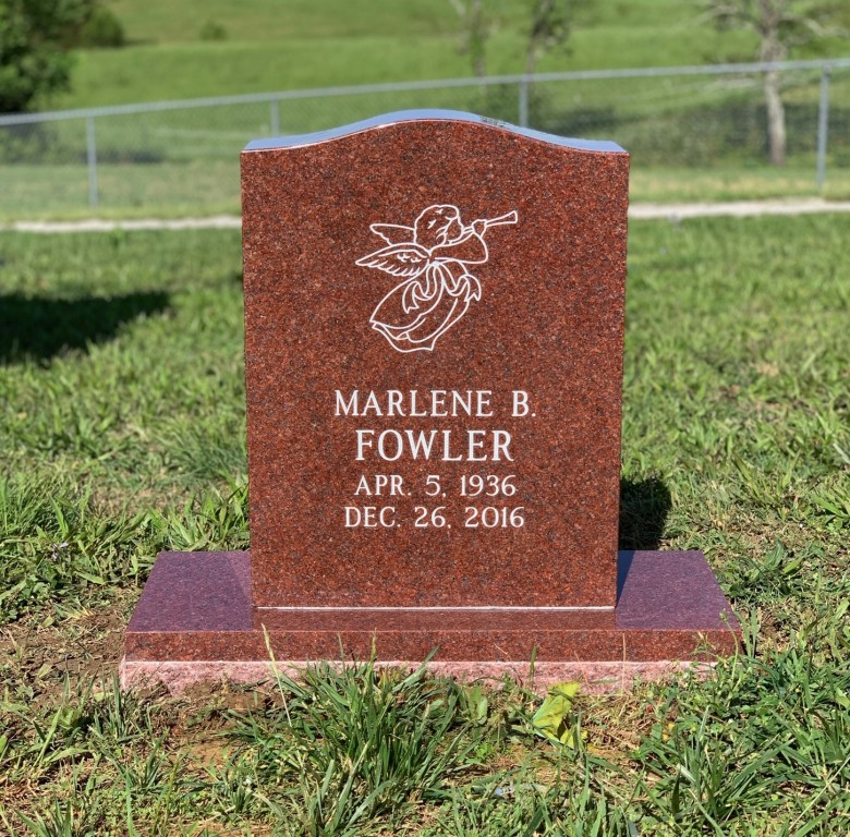 Headstone for Marlene Fowler
