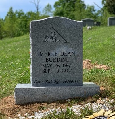 Headstone for Merle Dean Burdine