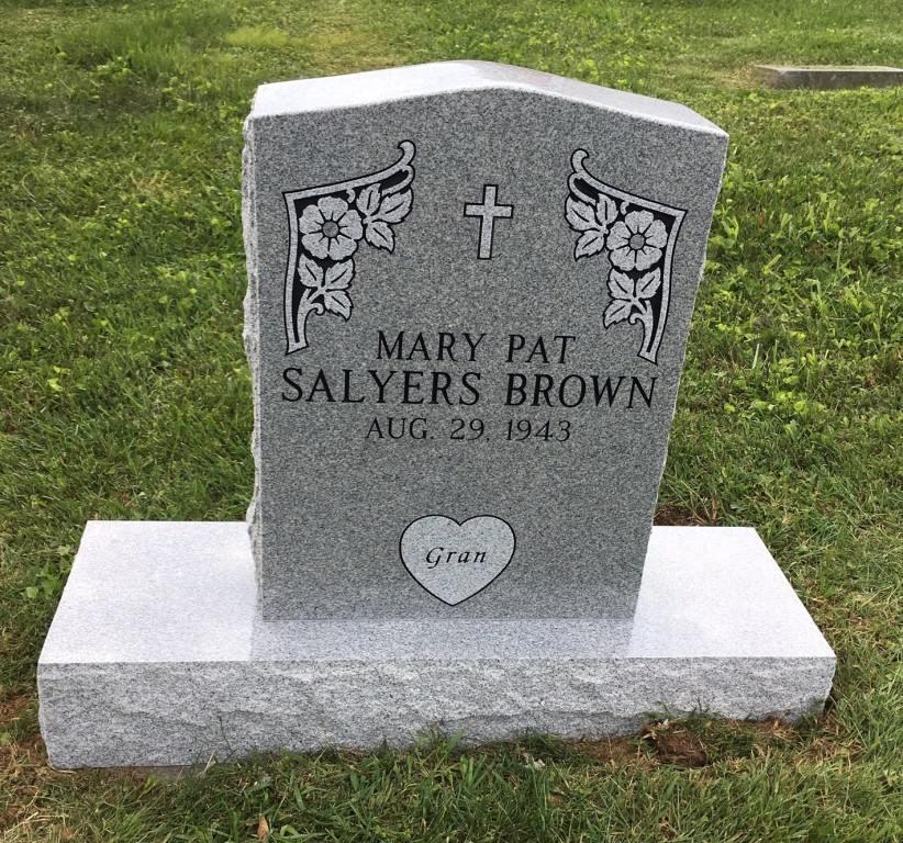 Headstone for Mary Pat Salyers Brown