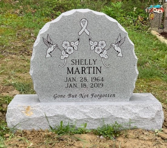 Headstone for Shelly Martin