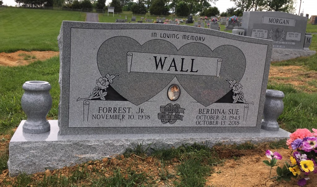 Headstone for Forrest and Berdina Sue Wall