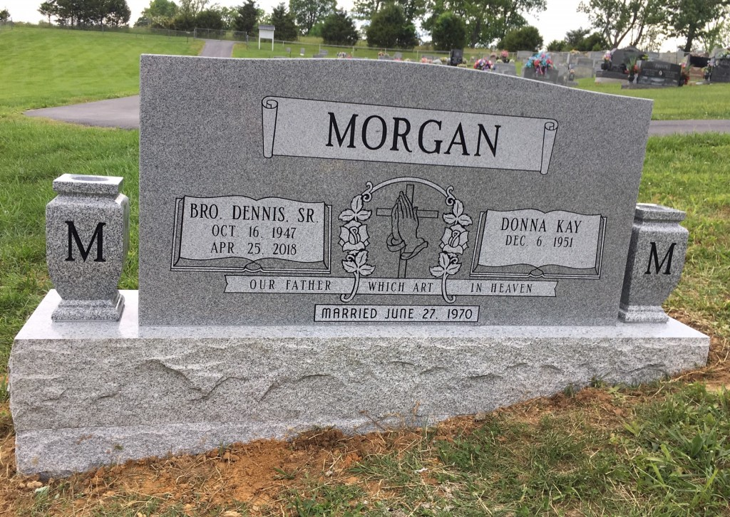 Headstone for Dennis and Donna Morgan