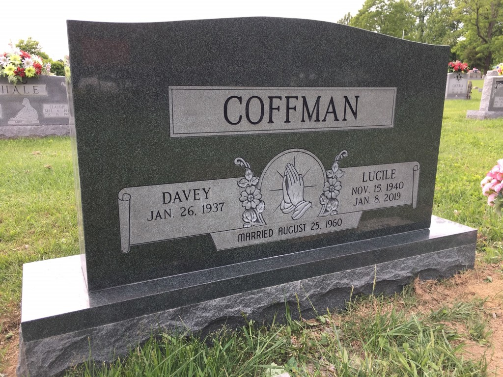 Headstone for Davey and Lucile Coffman