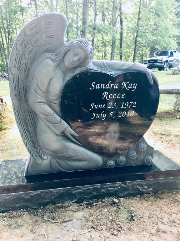 Headstone for Sandra Reece