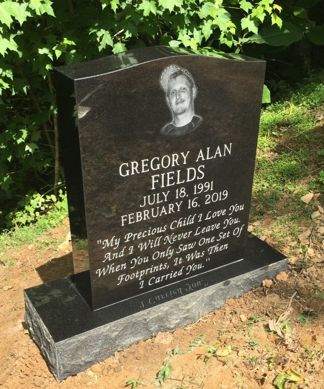 Headstone for Greg Fields