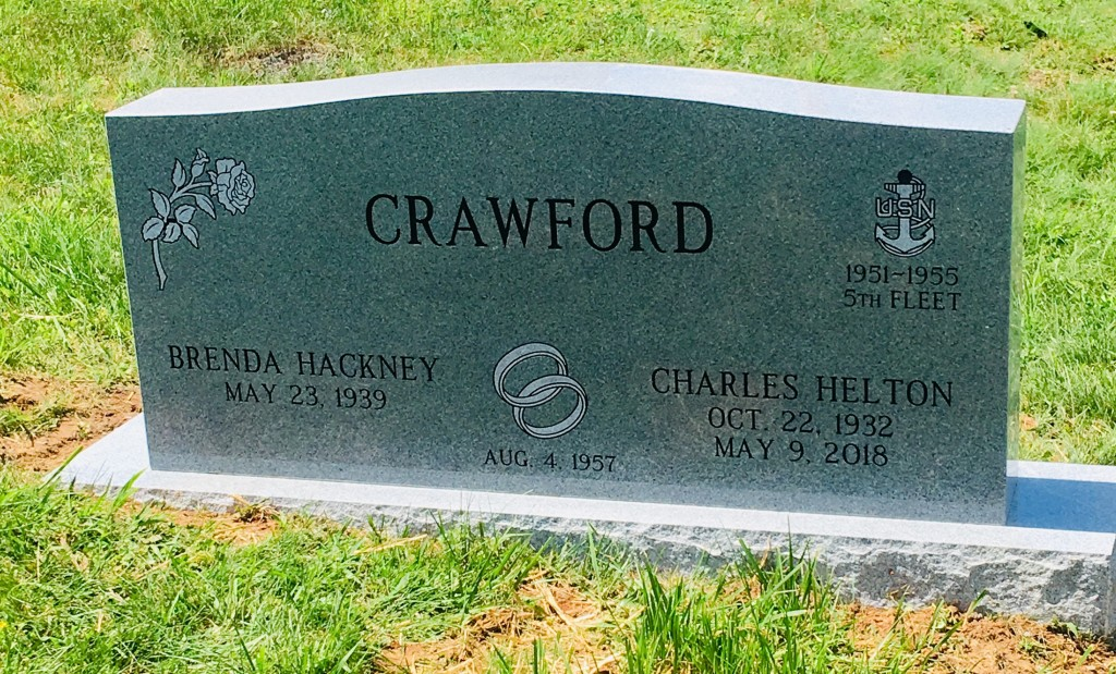 Headstone for Charles and Brenda Crawford