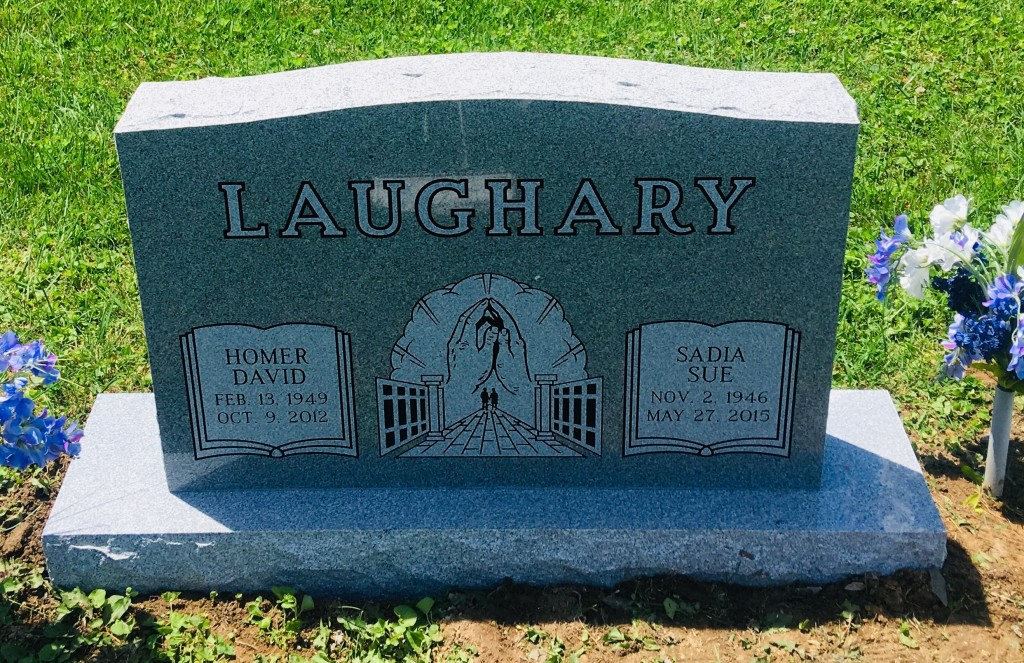 Headstone for Homer and Sue Laughary