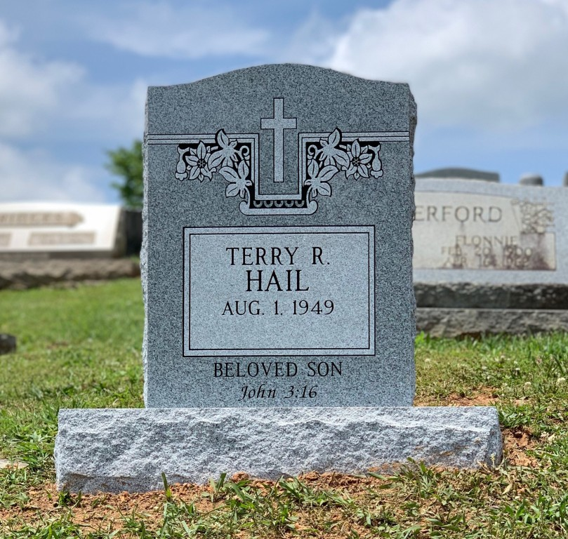 Headstone for Terry Hail