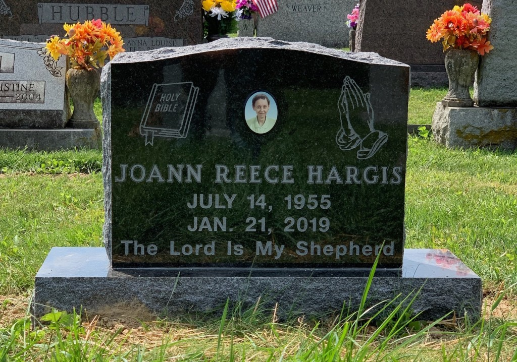 Headstone for Joann Reece Hargis